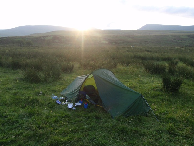 Sunrise at the mid camp